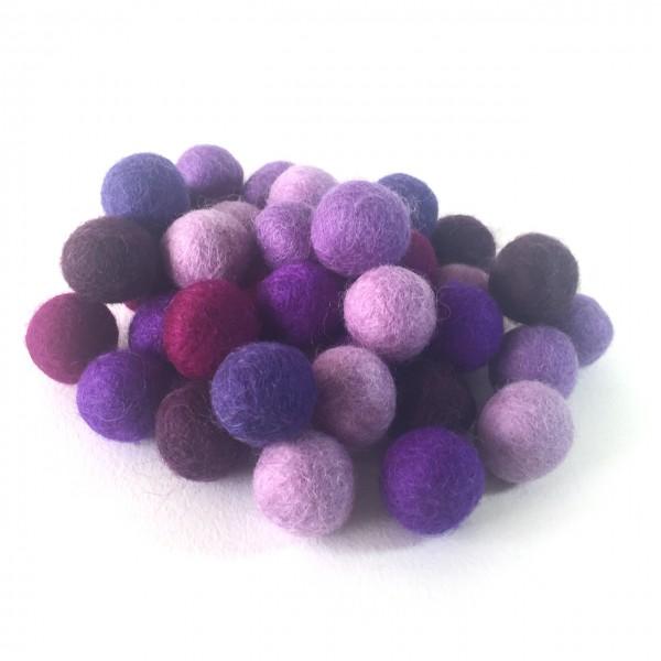 Viltballetjes 2,0 cm voordeelzak mixkleuren